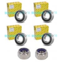 4 Erde Wheel Bearings & 2 Nylok Nuts for Erde 100,101,102,107,120,122,132 etc